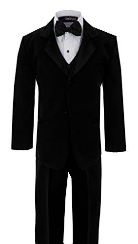 [Big Boy's Usher Tuxedo HUSKY G210 (14 Husky, Black)] (Odd Squad Costume)