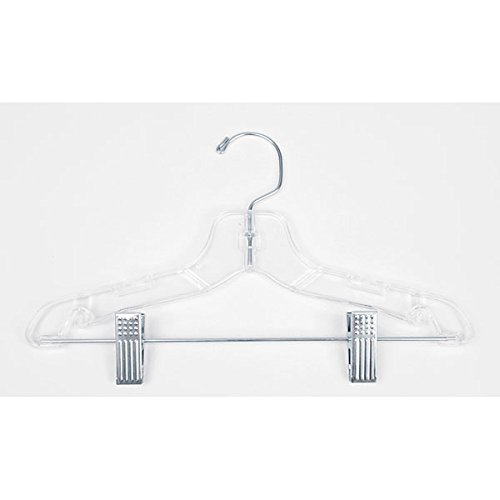 Lot of 100 New Retail Children's Clear finish suit hanger 12 inch by Hanger