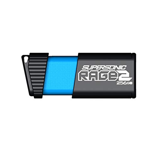 Patriot 256GB Supersonic Rage 2 Series USB 3.0 Flash Drive with up to 400MB/Sec Transfer Speeds (PEF256GSR2USB)