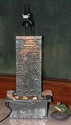 zimmerbrunnen wasserwand mit pumpe licht 18x43x12cm k che haushalt. Black Bedroom Furniture Sets. Home Design Ideas