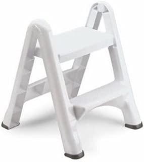 product image for Rubbermaid EZ Step Folding Stool, 2-Step, White