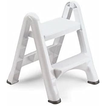 Amazon Com Rubbermaid Ez Step Folding Stool 2 Step