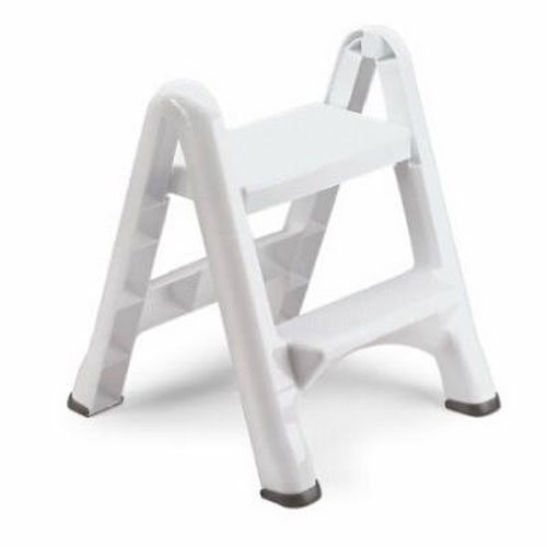Rubbermaid EZ Step Folding Stool, 2-Step, White by Rubbermaid