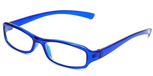 Calabria 8034 Designer Reading Glasses in Blue - For Blue Eyeglasses Women