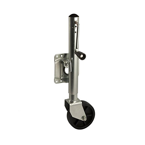 Koch Industries 4250220 Marine Trailer Jack Tailer Bolt-on Swivel 1,000-Pound Lift Capacity, Sidewind, 10 Travel, Mounting Hardware Included, 6-inch Wheel by Koch Industries