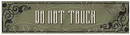 CGSignLab Do Not Touch 16x4 Victorian Gothic Heavy-Duty Outdoor Vinyl Banner