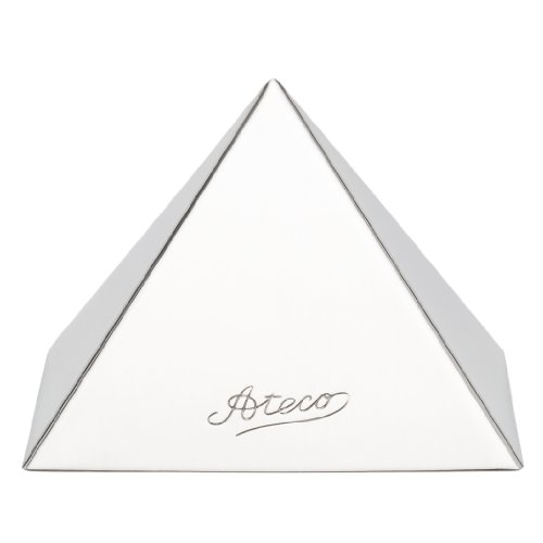 (Ateco 4936 Stainless Steel Medium Pyramid Mold, 3.5 by 2.5-Inches High )