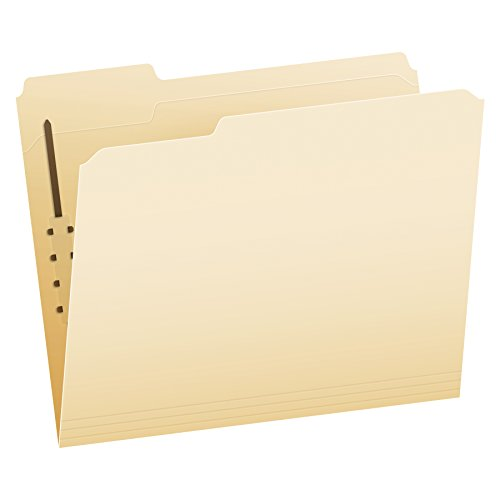 Pendaflex Manila Fastener Folders, Letter Size, 1 Fastener, 1/3 Cut, 50/BX (FM210)