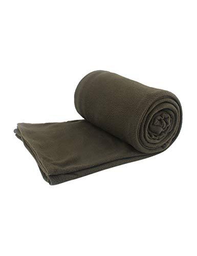 BESBOMIG Sleeping Bag Liner Polar Fleece Camping Blanket Quilt Throw Portable Travel