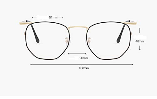 Espejo Polígono Cara Plano Marco Gafas Grande Ultra Ligero Completo Puro Negro Titanio Oro zqpHUUwB