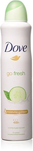 Dove Go Fresh Antiperspirant Body Spray 250Ml Cucumber & Green Tea 2-Pack