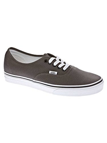 Vans Authentic Classic, Unisex Adult Low Top Lace-up Trainers, Pewter Black, 9.5 UK (44 EU) -