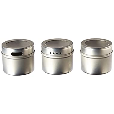 Kamenstein Magnetic Multi-Purpose Spice Storage Tins, Set of 3