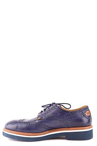 Cesare Paciotti Mannen Mcbi068038o Blauw Leder Veterschoenen