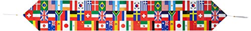 Printed International Flag Table Runner Party Accessory (1