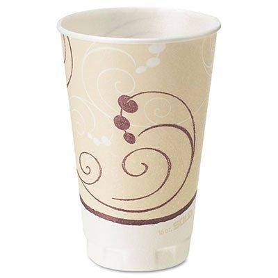 SOLO Cup Company Symphony Trophy Plus Dual Temperature Cups, 16 oz., Beige, 750 Cups/Carton