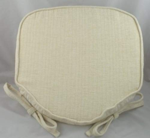 Luxury Cream Chenille Seat / Chair Pads / Cushions With Piped Edging Evans Lichfield J748