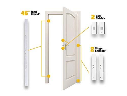 Door Armor MAX – Complete Door Reinforcement Set For Jamb, Frame, Strike Plate — DIY Home Door Security – White by Armor Concepts (Image #2)