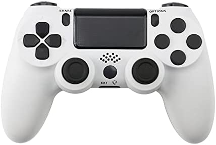 Lyyes PS4 Wireless Controller with Vibration 6-axis Controller for Playstation 4 (White)