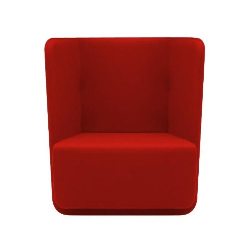 Softline Basket Sessel mit niedrigem Rücken, rot Stoff Filz 622