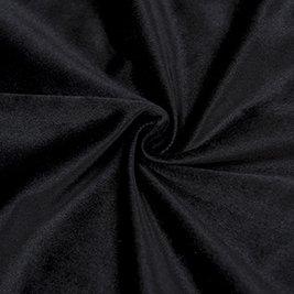 Cherry Home Set of 2 Velvet Thermal Blackout Curtain Panel Drapes Grommet Draperies Eyelet 52Wx84L inch Black(2 panels)Theater| Bedroom| Living Room| Hotel