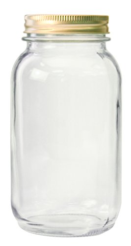 (Anchor Hocking 10986 10986AHG17 1 Quart Home Canning Jar with Metal lids and Rings, Clear)