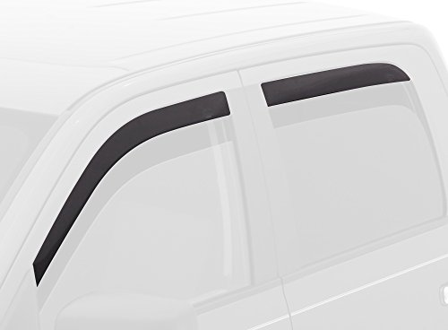 Auto Ventshade 894033 Low Profile Dark Smoke Ventvisor Side Window Deflector, 4-Piece Set for 2014-2018 Silverado & Sierra 1500, 2015-2018 Silverado & Sierra 2500HD-3500HD with Crew Cab