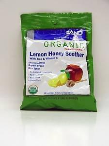 Soother Lozenges - ZAND Herbalozenge Organic Lozenges, with Zinc & Vitamin C, Lemon Honey Soother, 12 - 18 lozenge bags (216 Lozenges) by Zand