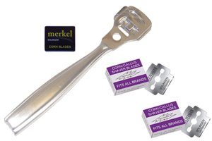 Tweezerman Callus Shaver Blades Plus Professional Stainless Steel Callus Shaver Combo (Tweezerman Corn)
