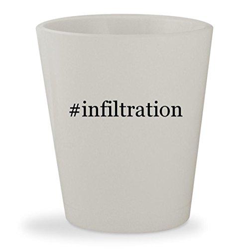 #infiltration - White Hashtag Ceramic 1.5oz Shot Glass