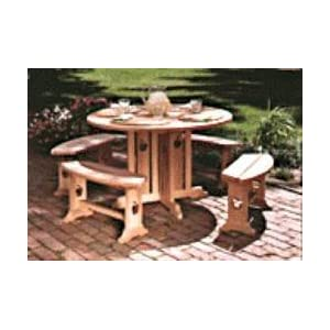 Apple Patio Table and Benches - A Woodworking Pattern and Instructions Pkg to Build Your Own