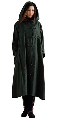 A Femme Vintage Décontracté Elégante Styles Capuche Automne Fashion Outerwear Grün Longues Printemps Young Manches Blouson Unicolore Bouffant Jacket Coat Gaine 76bfyg
