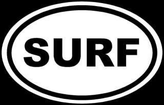 Chase Grace Studio Surf Euro Surfing Surfboard Vinyl Decal Sticker|White|Cars Trucks SUV Boat Surfboard Laptop Wall Art|5.25