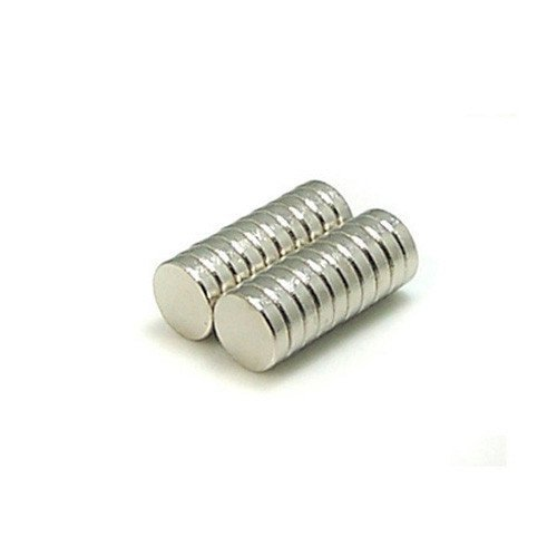 """Quiverr M14x16DI Super Strong Neodymium Disc Craft Magnets, Grade N42, 1/4"""" Diameter, 1/16"""" Thickness (Pack of 100)"""
