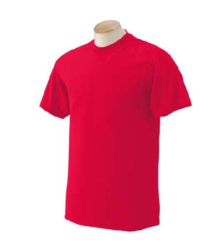 Gildan G800 DryBlend 5.6 oz.; 50/50 T-Shirt - Red - XL (Mens Red T Shirt Xl)