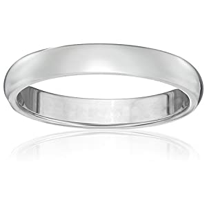 Classic Fit Platinum Wedding Band, 3mm