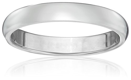 Classic Fit Platinum Band, 3mm, Size 7