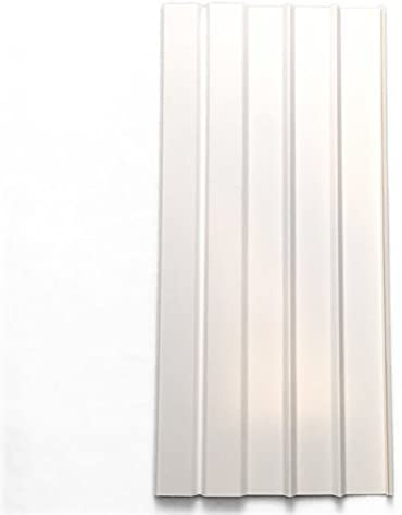 """Mobile Home Vinyl Skirting Box of 8 White Solid Panels 16"""" Wide by 35"""" Tall. Premium 40 Mil Thickness"""