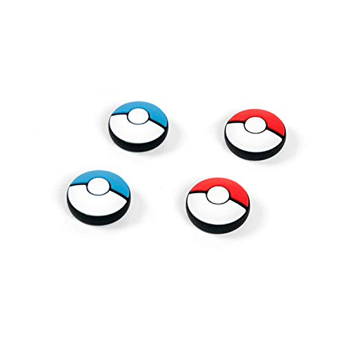 NSTang Joy Con Thumb Grip Set Joystick Caps for Nintendo Switch Pokemon Silicon Stick Cap for Joy-Con Controller, Blue & Red, 4 Caps