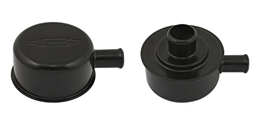 (Mr. Gasket 2054BP Flat Black Push-On Breather Cap with PCV Tube)