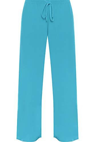Femmes À 40 Pantalon Pantalons Wearall Flottant Tailles Évasé Grandes 58 Turquoise Et wgTXSx1q