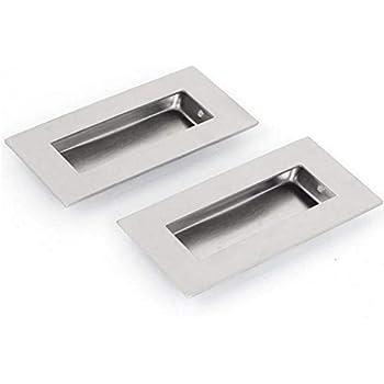 Diy Materials Recessed Pull Door Handle 90 X 42mm Brass Flush Home Furniture Diy New Times Bg