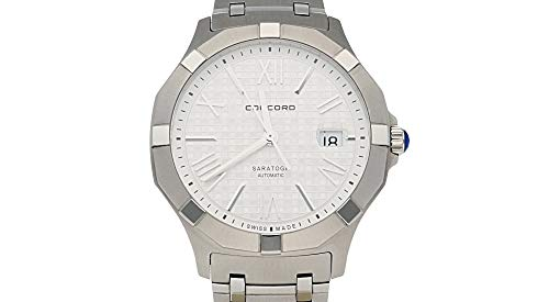 - Concord Saratoga 0320179 Mens Stainless Steel Watch - 40mm Silver Face Timepiece with Second Hand, Date and Sapphire Crystal Automatic Watch - Durable Metal Band Swiss Made Luxury Watches for Men