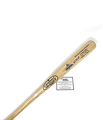 (Kyle Hendricks Chicago Cubs Signed Autograph Baseball Bat Limited Edition World Series Blonde Fanatics Authentic Certified)