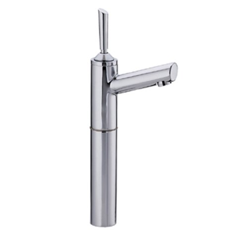 Whitehaus 3-3345-POCH Centurion 4 3/4-Inch Single Hole Stick Handle Elevated Lavatory Faucet with 7-Inch Extension and Short Spout, Polished Chrome Centurion Single Hole