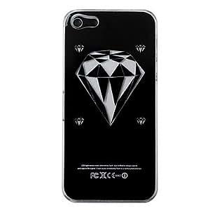 ZXM-Nuevo sentido de diamantes linterna llevó la caja dura el cambio de color para el iphone 5 , Negro