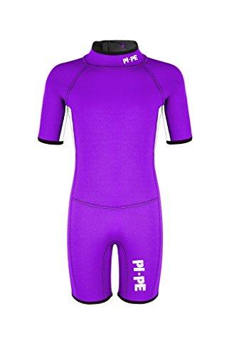 PI-PE Kinder Neoprenanzug Spring Short Sleeve, Lilac, 118-124, PNK-1-L