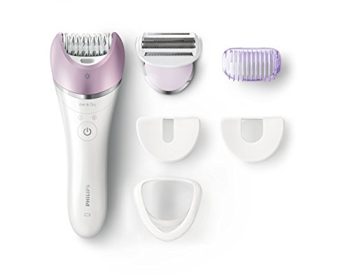 Philips Satinelle Advanced Epilator, Electric Hair Removal, Cordless Wet & Dry Use, (BRE635) (Philips Epilator Sensitive)