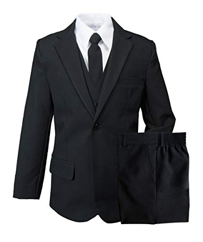Baby Business Costume (Spring Notion Boys' Modern Fit Black Dress Suit Set 18M)
