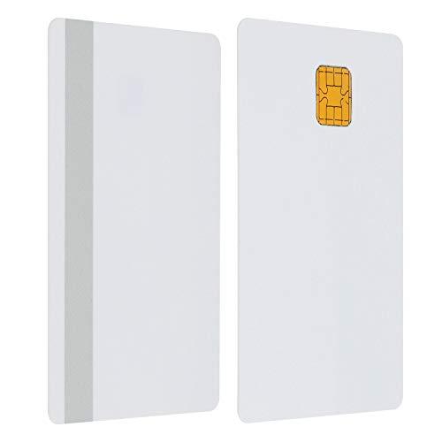 J2A040 Java JCOP Chip Cards JCOP21-40K Java Smart Card with Silver 2 Track 8.4mm HICO Magnetic Stripe (5 Pack)